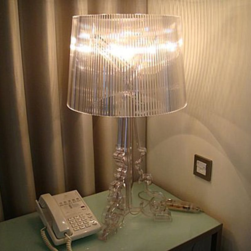 Modern Simple Ghost Shadow Clear Transparent Acrylic Table Lamps Light Bedroom Bedside Study Acrylic Desk Lamps Light