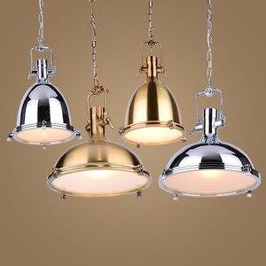 Image 2 - 3 style Loft retro Industrial hanging Hardware metals pendant lamp vintage E27 LED lights For Kitchen bar coffee light fixtures