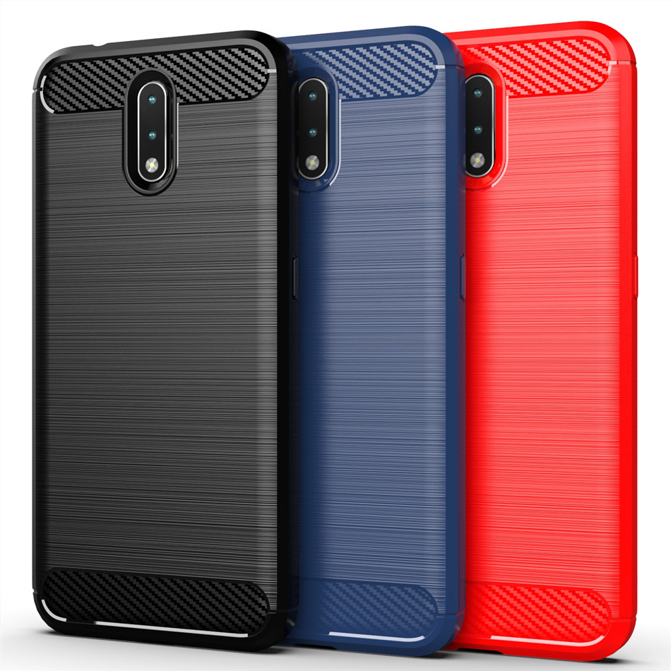 Silicone Case For Nokia 2.3 2.1 2.2 3.2 3.1 Plus 4.2 2V Cases Carbon Fiber Brush TPU Frosted Cover Case For Nokia 2 3 9 Pureview