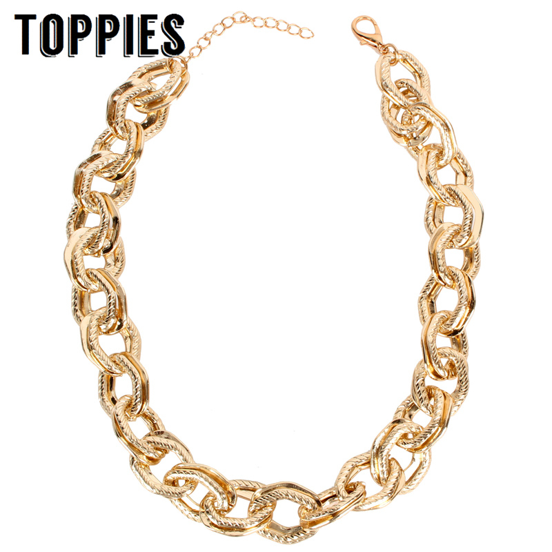 Statement Necklace Choker Gold Chain Necklace Lady Party Jewelry Women Accessories
