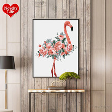 Oil Painting By Numbers Flower Acrylic Paint DIY Wall Painting Flamingo Picture Coloring By Numbers on Canvas Modern Home Decor(China)