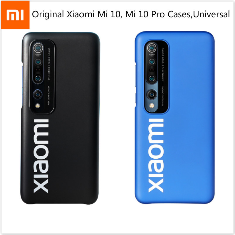 Original Xiaomi Mi 10 Mi 10 Pro Phone Cases Black Fitted Cases CellPhone Bumpers Casing 6.67'' Xiomi Smartphone Protective Shell