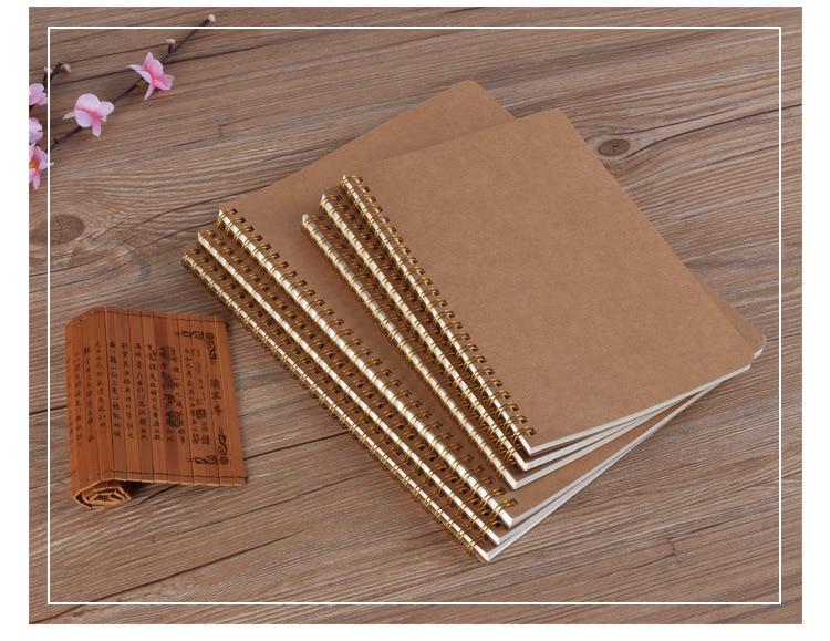 B5 Notebook Points Blank Grid Line Notepad  Item Symbol Journal Old Retro Kraft Pape