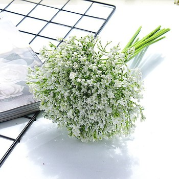 Oddech dziecka sztuczne kwiaty ręcznie robione DIY na bukiety ślubne do dekoracji wnętrz dekoracji domu tanie i dobre opinie FLoriddle Baby s breath Bukiet kwiatów Ślub Poliester
