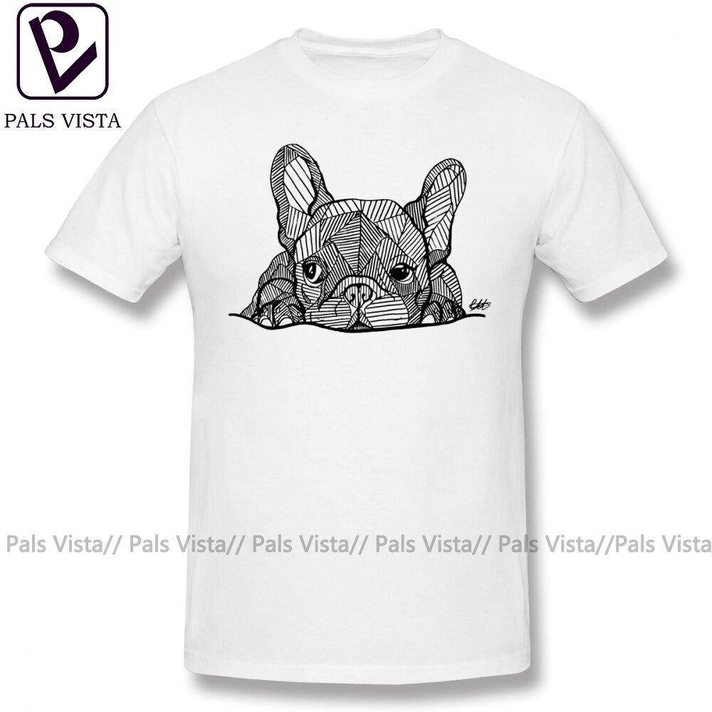Bouledogue français T-Shirt bouledogue français chiot T-Shirt mâle amusant T-Shirt 100 pour cent coton plage manches courtes imprimer 4xl T-Shirt