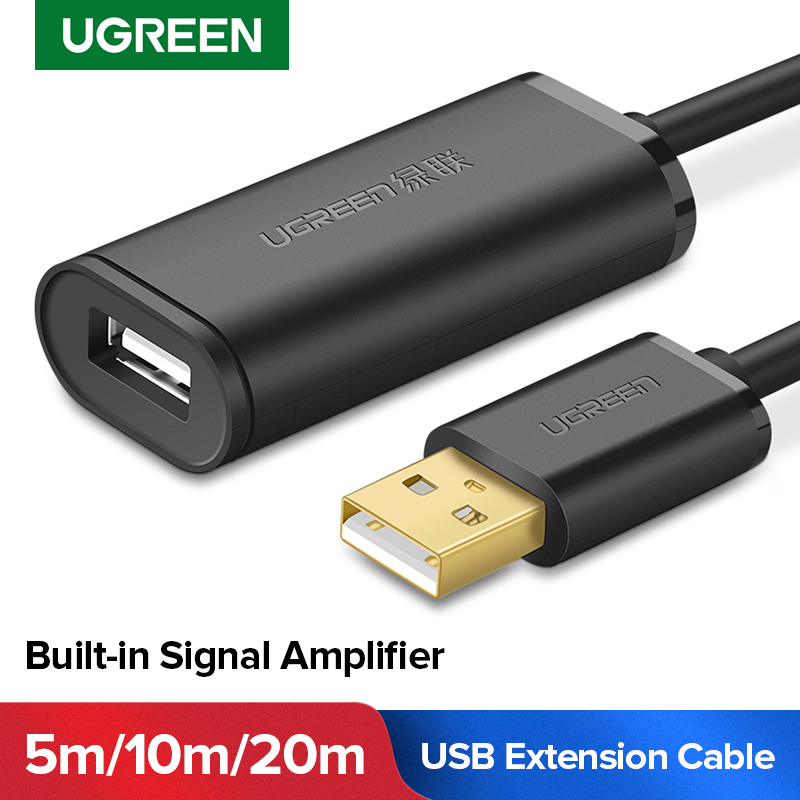Ugreen Usb-Extension-Cable Extender-Cord Signal-Amplifier Usb-3.0 Male-To-Female 20m/30m title=