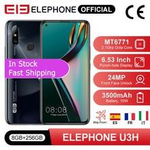 In Stock ELEPHONE U3H Smartphone 8GB 256GB Octa Core Helio P70 6.53″ FHD+ 24MP Selfie 48MP Dual Camera Android 9 Mobile Phone