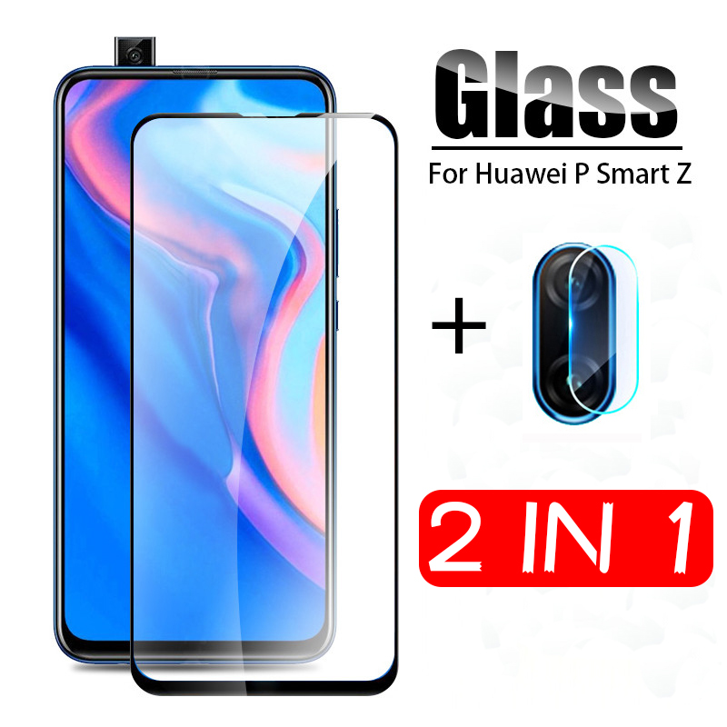 2-in-1 Tempered Glass On The For Huawei P Smart Z Camera Protector Glass For Huawei P SmartZ 9H Protective Film Screen Protector