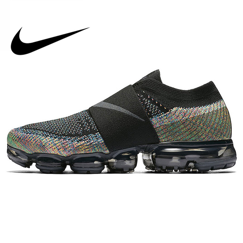Original Authentic Nike Air VaporMax Moc Rainbow Cushion Men's Running Shoes Sports Sneakers 2019 Outdoor Anti-skid Shoes AH3397