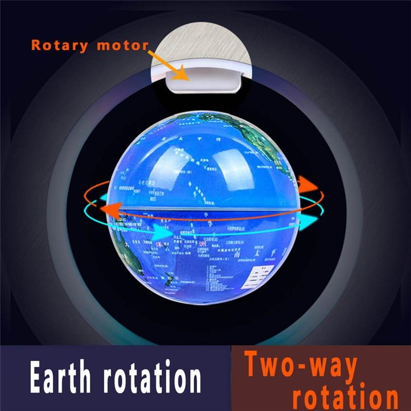 Image 2 - 4 インチラウンド LED グローブ磁気浮上グローブ地理浮上回転ナイトランプ世界地図学校の事務用品家の装飾    グループ上の ホーム