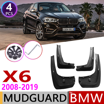 Mudflap for BMW X6 E71 F16 2008~2019 Fender Mud Guard Flap Splash Flaps Mudguards Accessories 2009 2010 2011 2013 2014 2015 2018