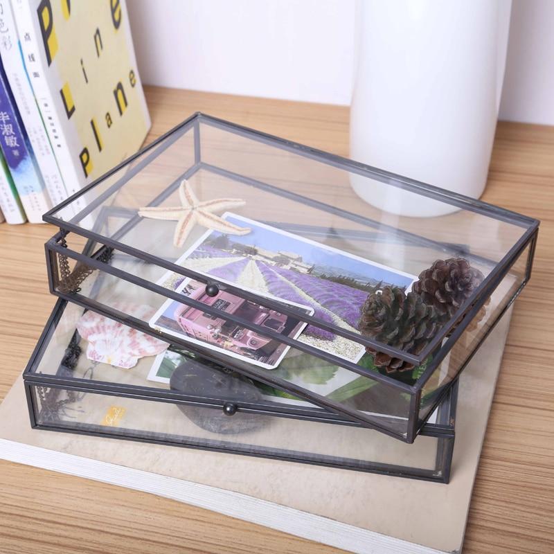 תיבת אחסון זכוכית דקורטיבית לאחסון  1