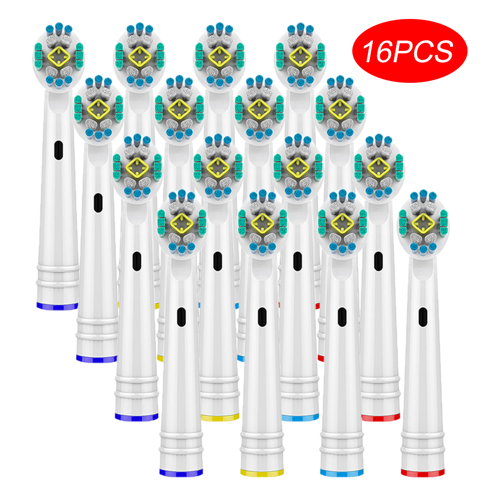 16pcs Toothbrush Nozzles Heads For Oral B 3D Toothbrush Heads Braun D25 D18 D12 D8 D4X D4 D17 D4510 D12013 D12013W D12523 D8011 image