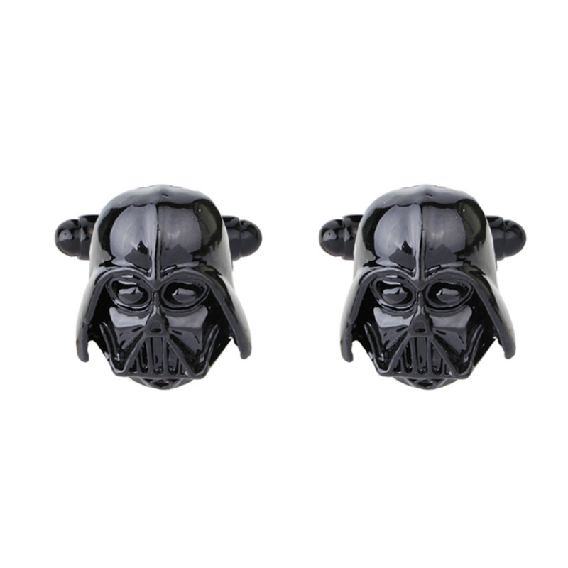 Star Wars Cuff Links Black Plated Engravable Darth Vader Star Wars Cufflinks Clasp For Men Shirt Cuff Buttons