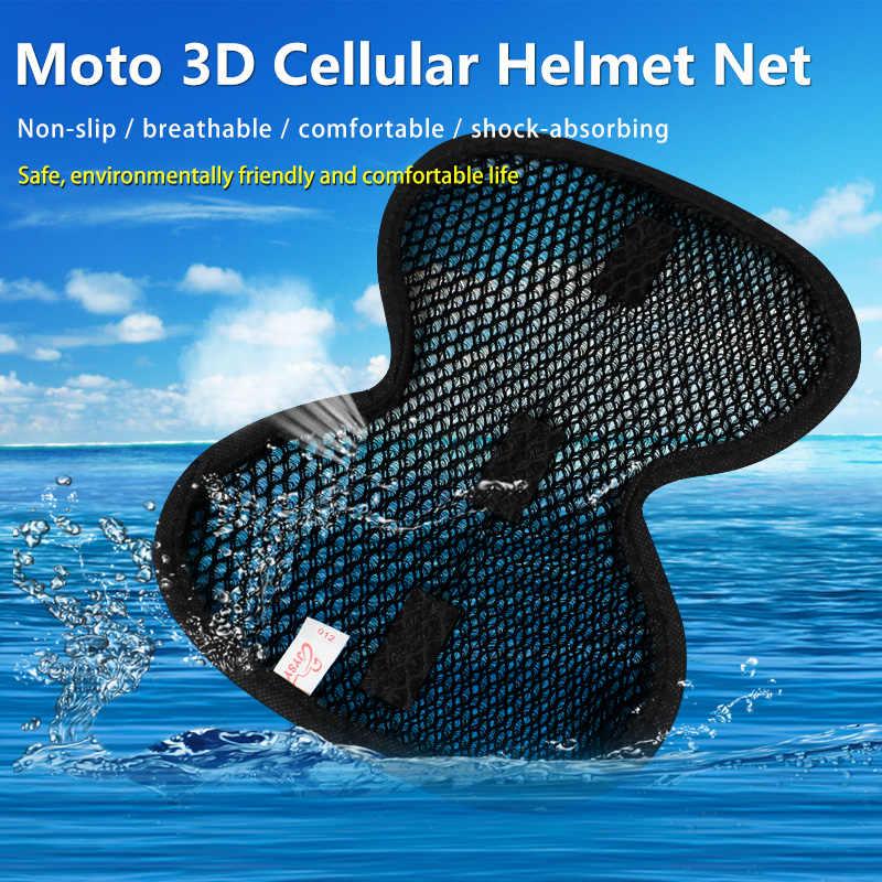 4 cores capacete do veículo da motocicleta estofamento chapéu de segurança da motocicleta tampa interna 3d celular rede capacete almofada