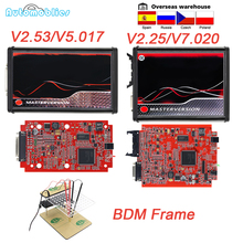 OBD2 EU Red KESS V5.017 V2.53 Master Online ECU Programmer Tool v2.25 V7.020 Full BDM Frame ECU Chip Tuning Tool