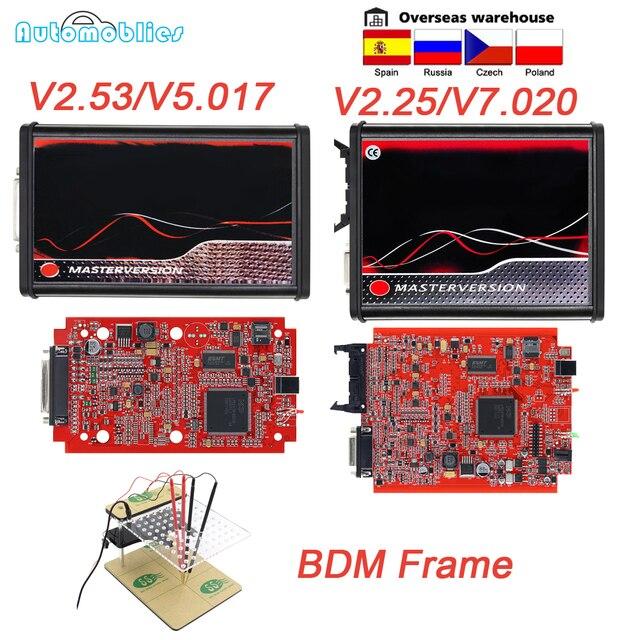 OBD2 EU Red KESS V5.017 V2.53 Master Online ECU Программатор инструмент v2.25 V7.020 полный BDM Рамка ECU чип Тюнинг инструмент