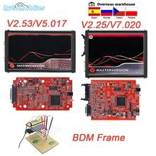 OBD2 UE rojo KESS V5.017 V2.53 Maestro en línea herramienta de programación de ECU v2.25 V7.020 La BDM de herramienta de sintonización de Chip ECU