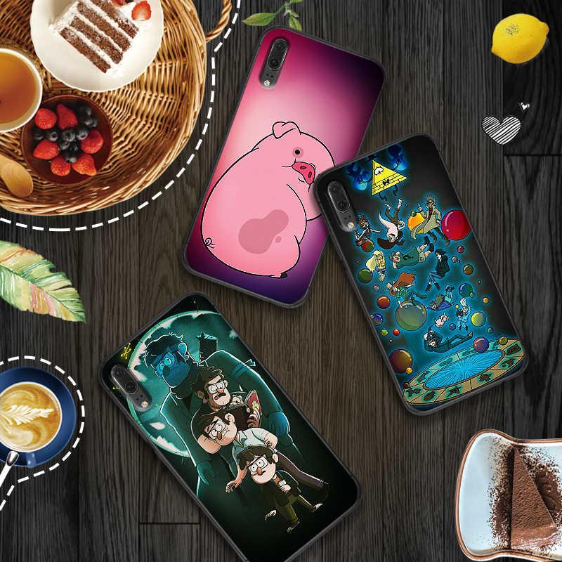 Dành cho Huawei P8 P9 Mini P10 P20 2019 P30 LITE Hoạt Hình Anime Trọng Lực Rơi Họ Nghệ Thuật P Smart Z 2018 p20 Pro TPU ỐP LƯNG