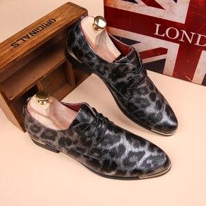 Image 2 - Mocassins plats pour hommes, chaussures léopard, Espadrilles en cuir, mode printemps Vintage, chaussures Oxford, collection décontracté