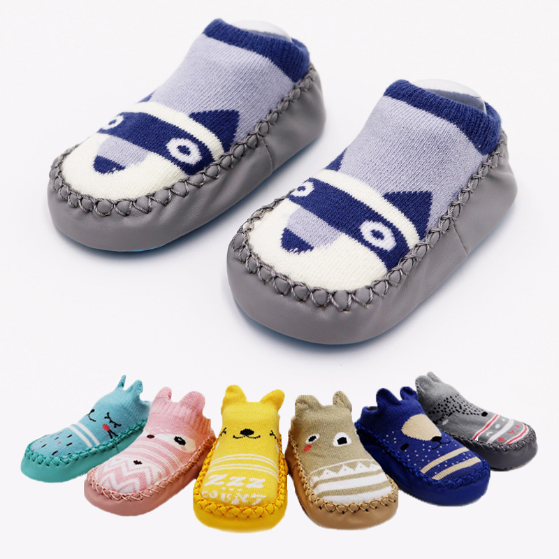 Baby Anti-Slip Newborn Socks 0-24Month Soft Sole Comfortable Indoor Home Baby Sneakers Animals Modeling High Quality Cotton