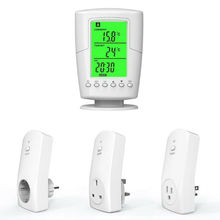 Socket Wireless Intelligent Smart Life Home Backlight Outlet Green TS-2000 Lcd-Display