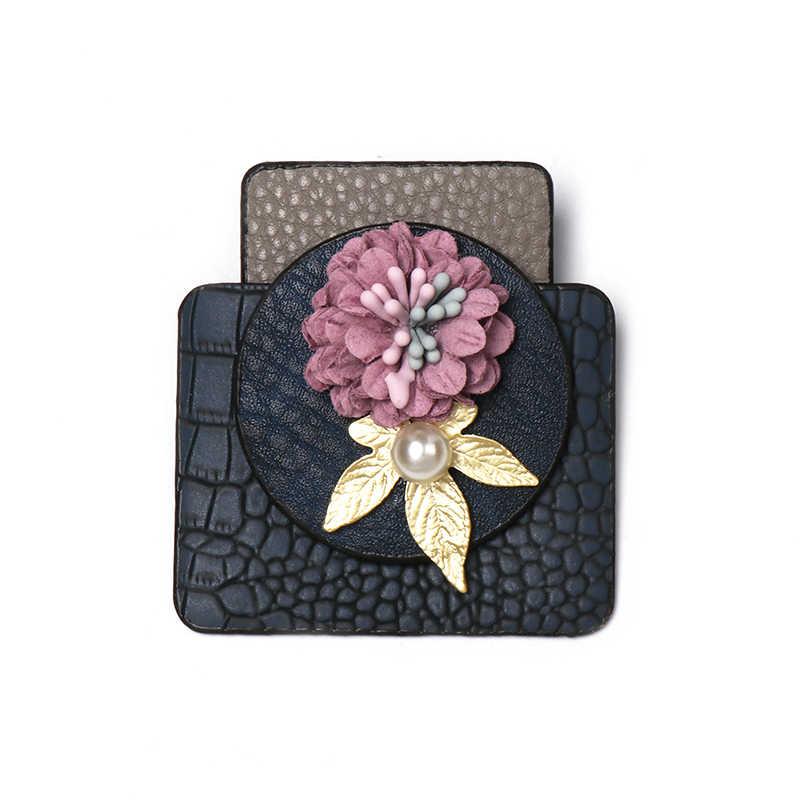 JUJIA 2019 ใหม่ดอกไม้เข็มกลัดผู้หญิง Elegant Noble Pins Rhinestone Corsage เครื่องประดับ