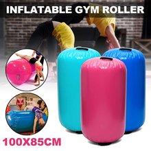 Tapis de gymnastique gonflable AirTrack 100x85cm, tapis d'air de sol, gymnastique, exercice, colonne ronde inversée