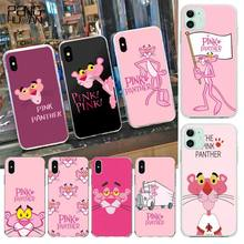 PENGHUWAN Cute pine panther Black Soft Shell Phone Case Capa for iPhone 11 pro XS MAX 8 7 6 6S Plus X 5S SE 2020 XR cover panther page 8