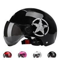 Capacete de bicicleta com óculos  capacete de segurança preto fosco para ciclismo de estrada e de estrada  equitação masculina e feminina