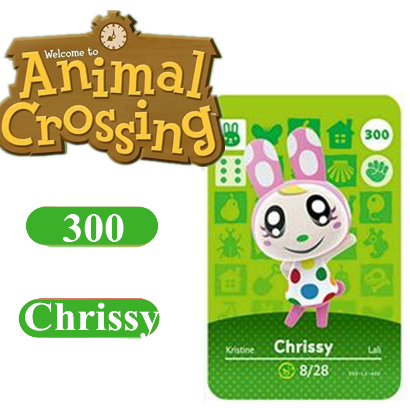 Animal Crossing Card Amiibo 300 Chrissy 264 Marshal NFC Card For Nintendo Switch NS Games Series 1 2 3 4
