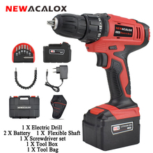 Electric-Screwdriver Battery Cordless-Drill NEWACALOX DC Lithium-Ion Mini 2-Speed Charging-16v