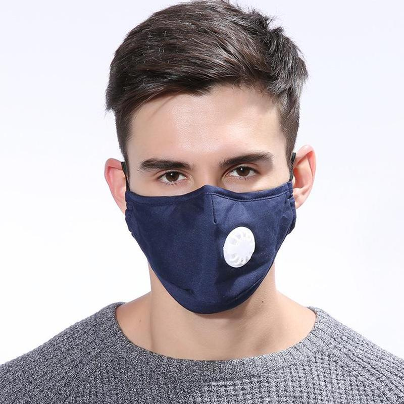 Pm2.5 Cotton Mouth Mask Anti-fog Dust-proof Breathable Anti-dust Masks Valve Activated Carbon Respirator For Men Women