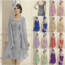 Women's Mother of The Groom Dresses Tea Length Lace
