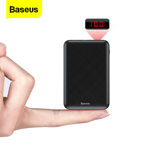 Baseus 10000mAh Mini Power Bank Portable USB Type C Fast Charger Small 10000 mAh Powerbank For iPhone Xiaomi Mi External Battery(China)