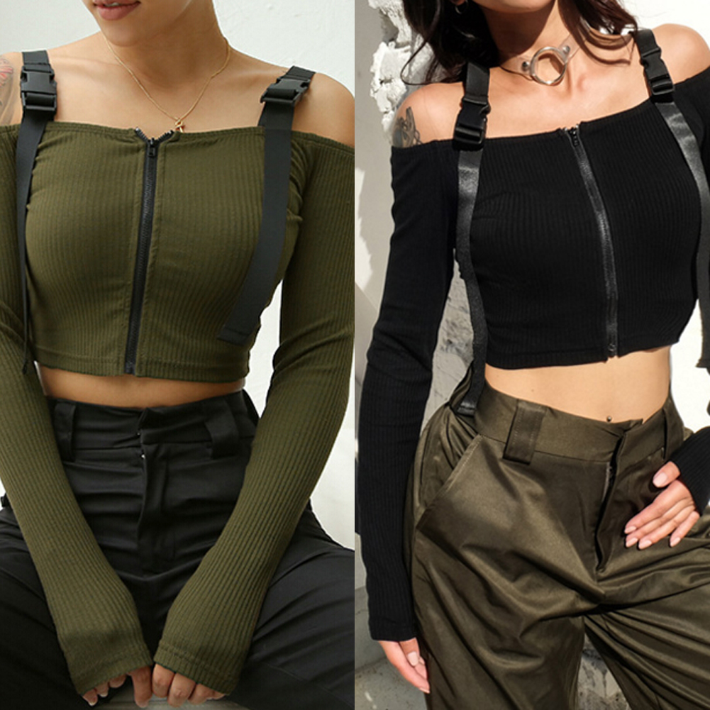 Off Shoulder Casual Halter T-Shirt
