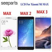 สำหรับ Xiaomi Mi MAX 3 จอแสดงผล LCD หน้าจอสัมผัส Digitizer ASSEMBLY สำหรับ Xiaomi Mi MAX 2 LCD Max3 หน้าจอเปลี่ยนสีดำสีขาว