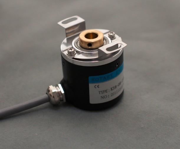 Hollow Shaft Photoelectric Rotary Encoder ZKP3808 2500 Pulse 2500 Line ABZ Three Phase 5-24V
