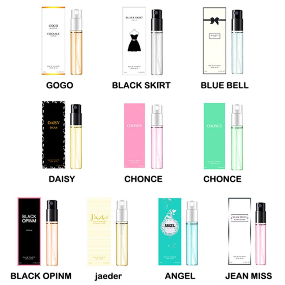Women Men Perfume Brand Long Lasting Atomizer Body Spay Fashion Lady Female Parfum Flower Fruit Deodorant Aromatic Water 3ml