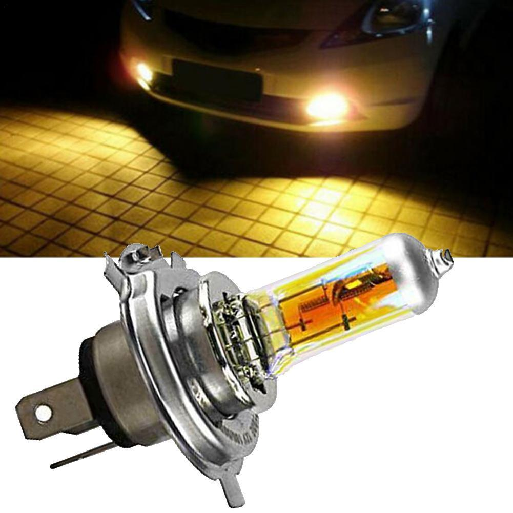 DC 12V 60/55W P43T Halogen Bulb 2300k Golden Yellow Quartz 60w Glass Beam H4 Low Car HeadLight 55w Halogen High Q4J5