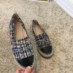 Женская обувь в рыбацком стиле; Новинка 2019 года; Разноцветные соломенные лоферы с мягкой подошвой; модная женская обувь на плоской подошве; ...