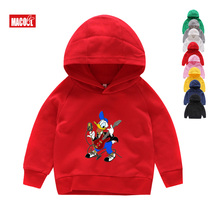 Boys Clothes Hoodies Cartoon Donald Duck Baby Kids Outerwear Hoodie Jacket Sport Clothing 2T-8T