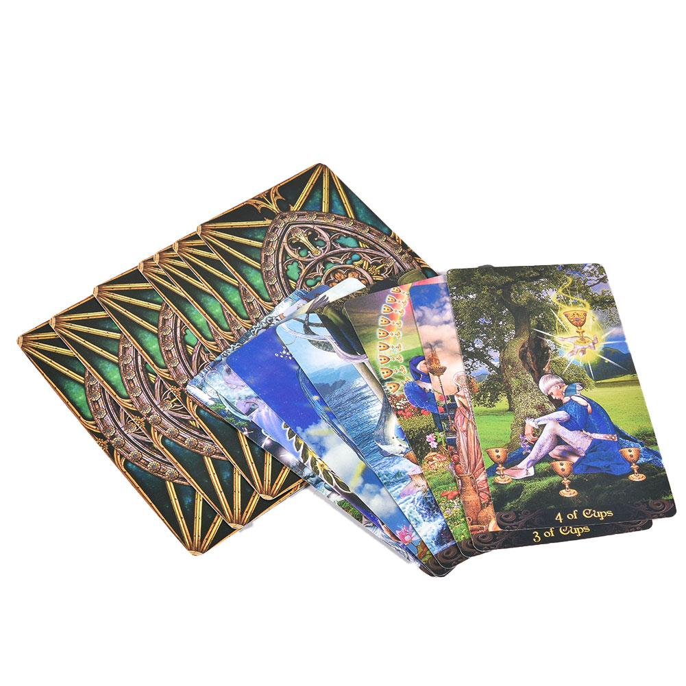 78Pcs English Deck Tarot Illuminati Kit Tarot Cards Table Deck Games For Family Party Playing Card Board Game Entertainment Gift