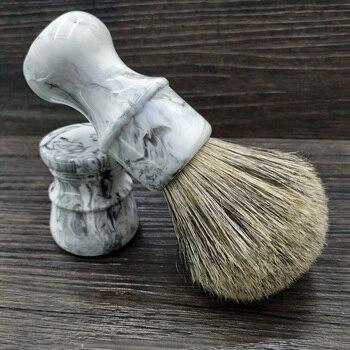 DS 26mm brocha de afeitar con cerdas de jabalí nudo de pelo de tejón mixto y mango de resina