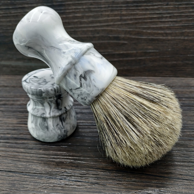 DS  26mm Shaving Brush With Boar Bristle Mixed Badger Hair Knot  And Resin Handle