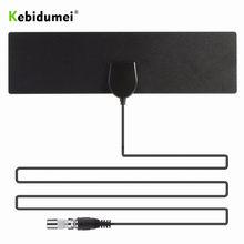 Kebidumei 50 mil HDTV kapalı TV anteni DVB-T2 HD 1080P dijital amplifikatör yüksek kazanç uydu alıcısı dahili araba anteni