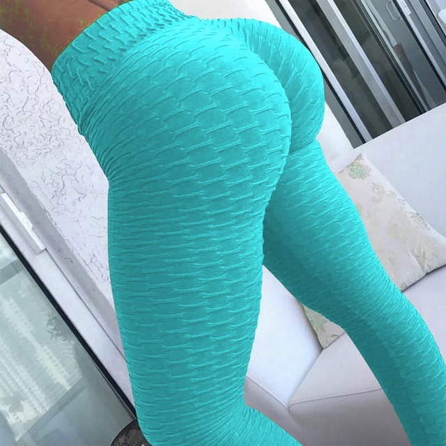 10colors Hot Women Leggings Pants Sexy White leggins Push Up Slim Gym Exercise High Waist Fit Slim Running Athletic Trousers 2