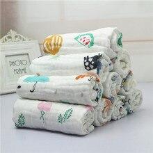 Baby Towel Newborn Handkerchief Bathing-Bib Gauze Face-Hand Washed Infant Cartoon Cotton