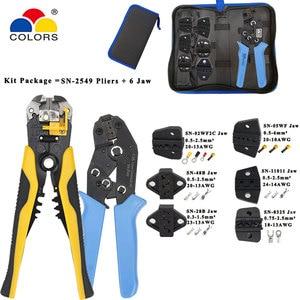 Outils de sertissage SN-2549 pince à SN-48B kit de mâchoire pince à dénuder pince coupante pour bornes de prise/tube/isolation outils de serrage