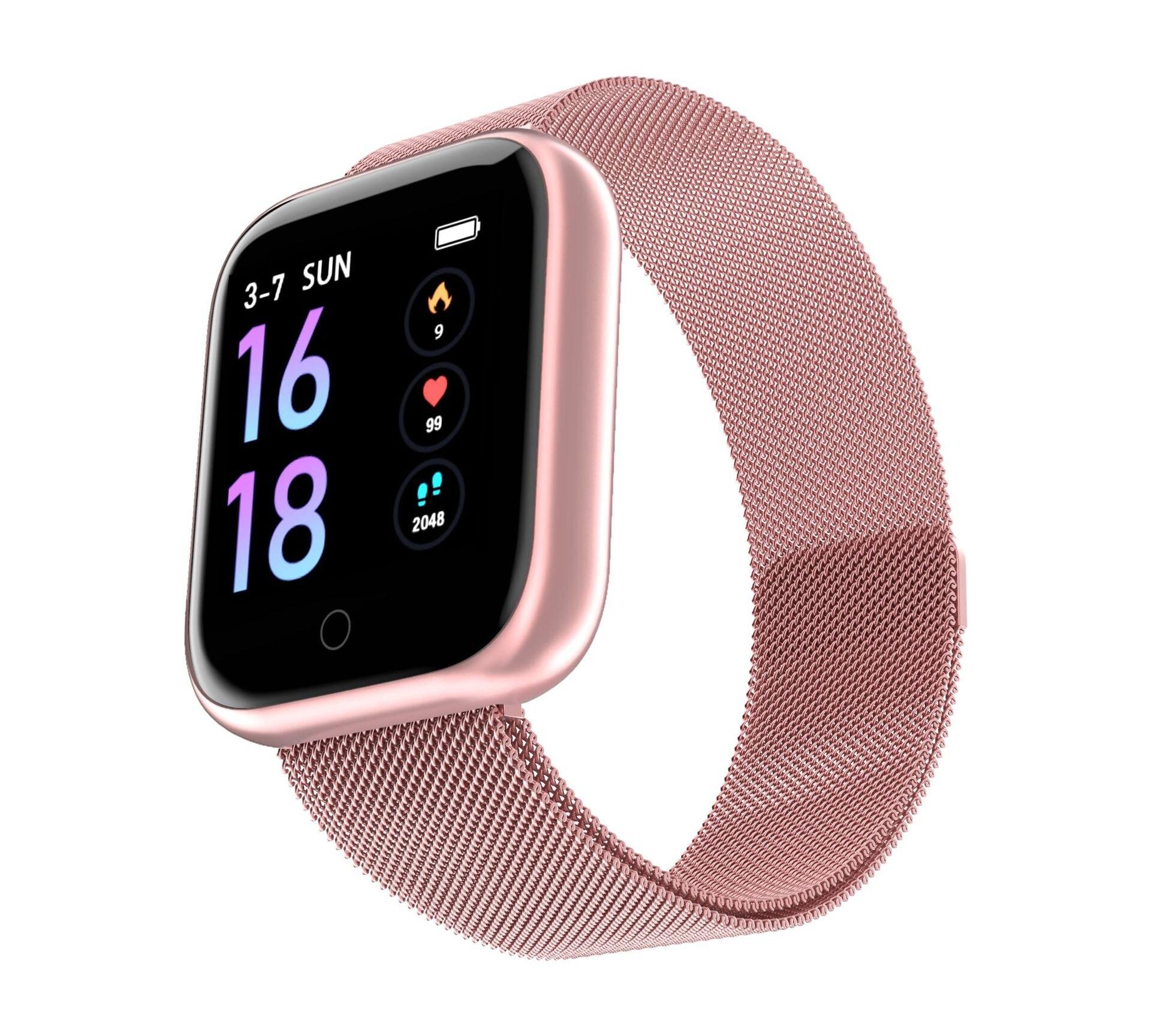 Femmes étanche montre intelligente T80 Bluetooth Smartwatch pour IOS téléphone Xiomi moniteur de fréquence cardiaque Fitness Tracker pk P70 P68 intelligent